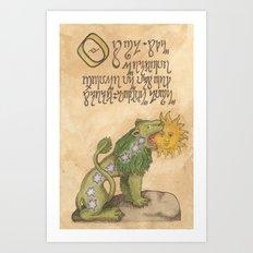 Alchemy Notebook: The Green Lion Art Print