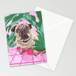 Pug in the Jungle Stationery Cards