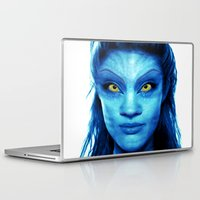 angelina jolie Laptop & iPad Skins featuring Angelina Jolie Avatar by Amber Galore Design
