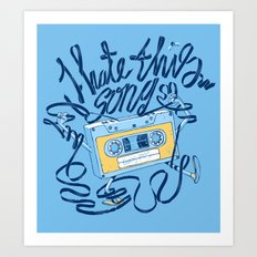 Sad song Art Print