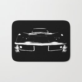 Classic Muscle Car Outline Bath Mat