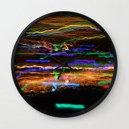 Derwent River Light Trails 3 Wall Clock