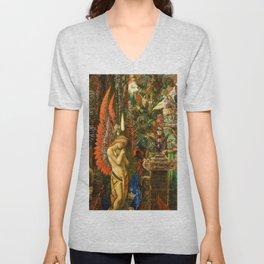 Portrait of the Goddess Saturn by Gustave Moreau Unisex V-Neck