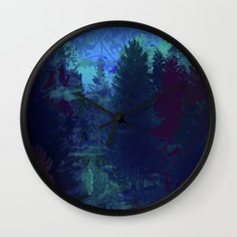She Walks Through the Forest Wall Clock