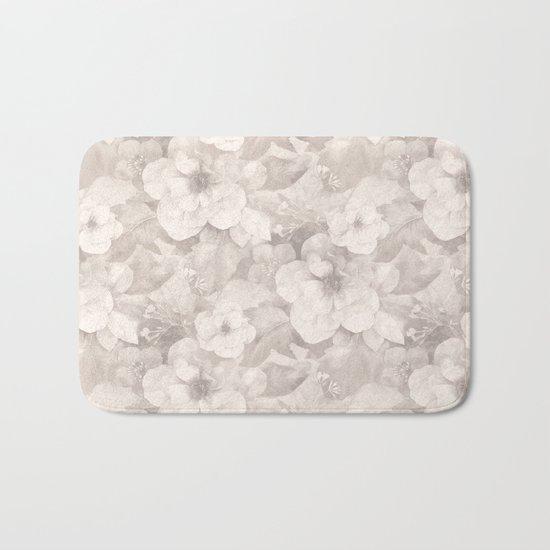 Vintage Flowers Bath Mat