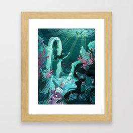 Mermaids of the Black Lagoon Framed Art Print