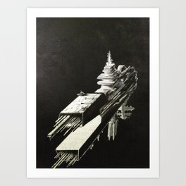 An Homage to 1980's Starships Art Print