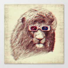 3D Lion Canvas Print
