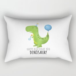 Happy Birthday You Dinosaur! Rectangular Pillow