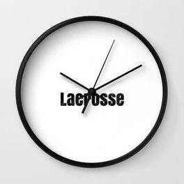Lacrosse Player Lacrosse Fastest Game on Two Feet LAX Wall Clock