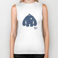bigfoot Biker Tanks featuring Bigfoot Logo by Grizzly Good