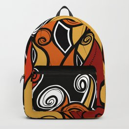 Flames on fire Backpack