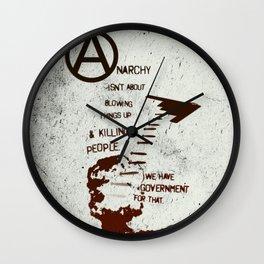 Anarchy Isn't... Wall Clock