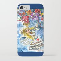 angel iPhone & iPod Cases featuring Angel by Shelley Ylst Art