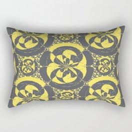 Dark grey and yellow Rectangular Pillow