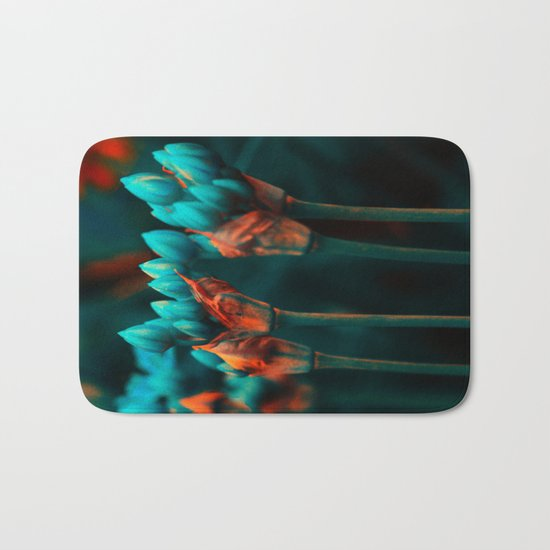 Floral abstract(17). Bath Mat