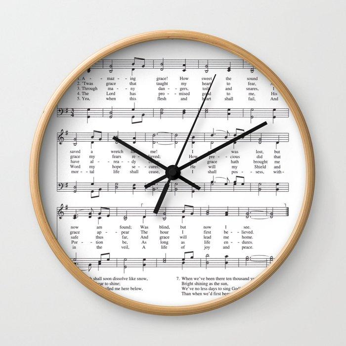 Hymn - Amazing Grace Wall Clock