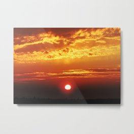 MM - Sunset of the city Metal Print