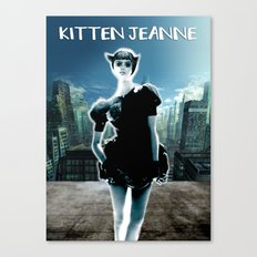 Kitten Jeanne Canvas Print