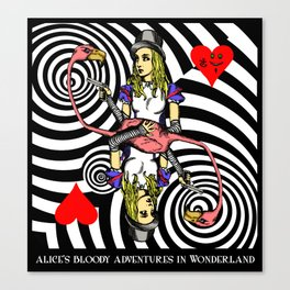 Alice and Flamingo Vortex Canvas Print