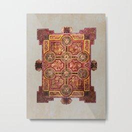 Book of Kells Carpet Page Metal Print