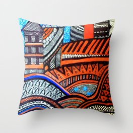 A City View Throw Pillow