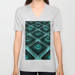 AzTECH Temple Unisex V-Neck
