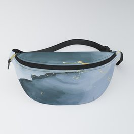 Deep water alcohol ink Fanny Pack