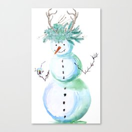 SNOWMAN PARTY ANIMAL Canvas Print