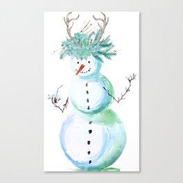 SNOWMAN PARTY ANIMAL Canvas Print