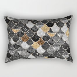 REALLY MERMAID BLACK GOLD Rectangular Pillow