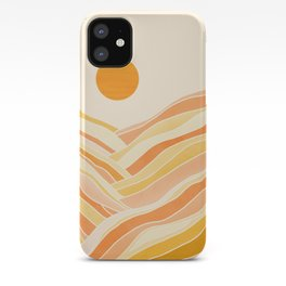 Golden Mountain Sunset / Abstract Landscape iPhone Case