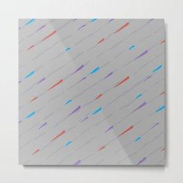 Grey Rain Metal Print