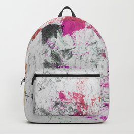 Blotchy Summer Paint Texture on White Backpack
