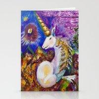 unicorn Stationery Cards featuring Unicorn by CrismanArt
