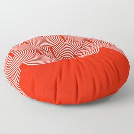 Red shapes pattern Floor Pillow
