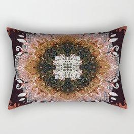 Gold Glitter Sacred Mandala Rectangular Pillow