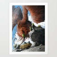 Griffin Mom Art Print