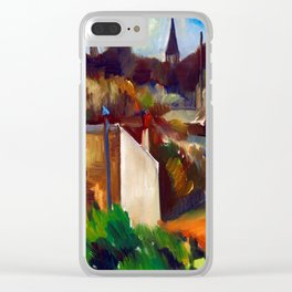 Anton Lindforss Town View of France Clear iPhone Case