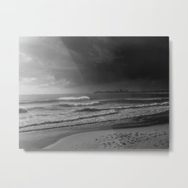 The Surfer and the Storm Metal Print