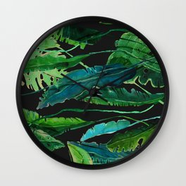 Horizontal Leaves Wall Clock