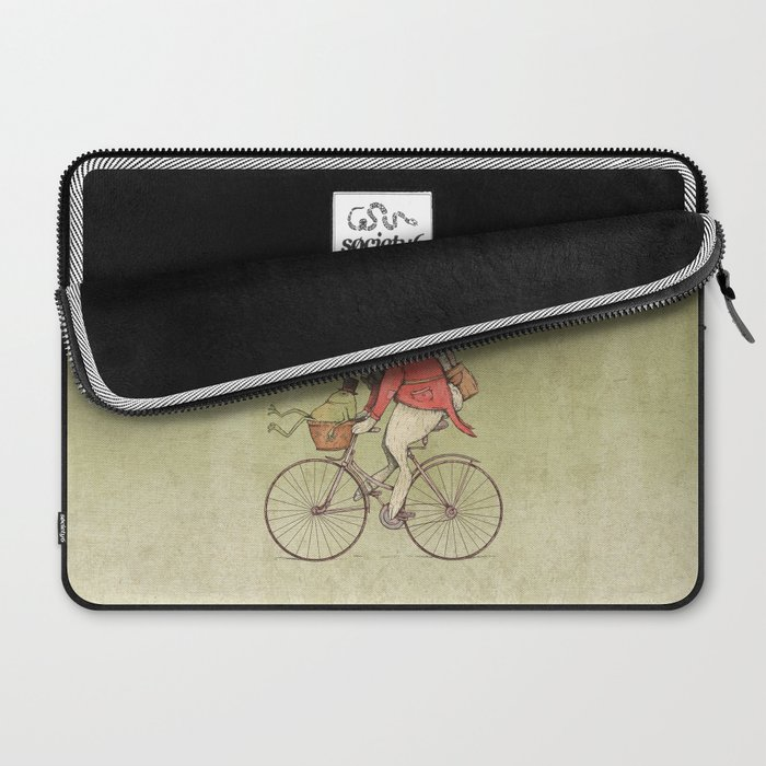 Rabbits Biker Club Laptop Sleeve