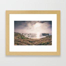 The (Sonoma) Beach - Goat Rock. Framed Art Print