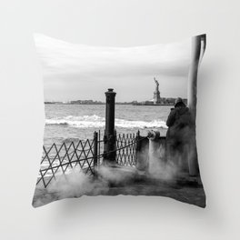 """The back of """"The Boat"""" Throw Pillow"""