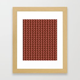 Sexy Lips Seamless Pattern Framed Art Print