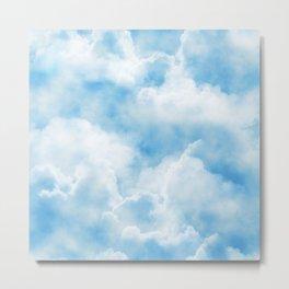 Fluffy Clouds Metal Print