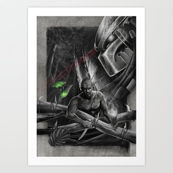 'The Jungle' (PREDATOR) Art Print