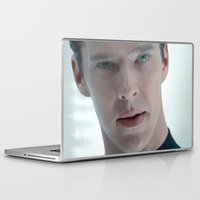 cumberbatch Laptop & iPad Skins featuring Khan - Benedict Cumberbatch by Kate Dunn