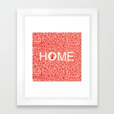 Home:家 Framed Art Print