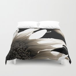 Sunflower-B&W Duvet Cover